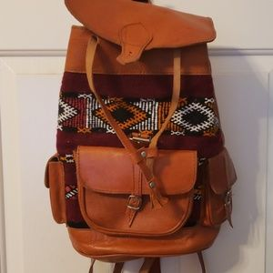 Handbags - Boho genuine leather backpack/purse